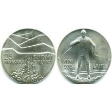 25 марок 1978 год. Финляндия. ЛЫЖНИК, ЗИМНИЕ ИГРЫ.