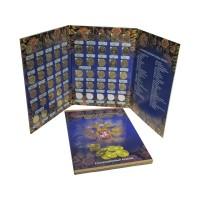 Набор 10 рублевых монет России серии Города Воинской Славы, в альбоме - планшете, 55 монет.