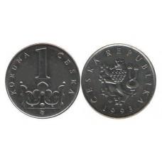 1 крона 1993 год. Чехия