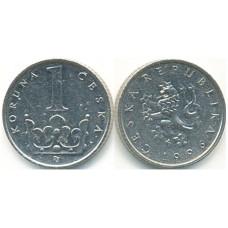 1 крона 1996 год. Чехия