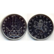 1 крона 2008 год. Чехия