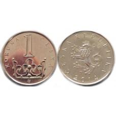 1 крона 2014 год. Чехия