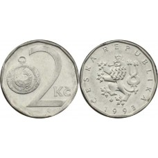 2 кроны 1993 год. Чехия