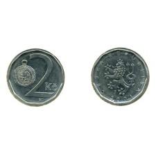 2 кроны 2001 год. Чехия