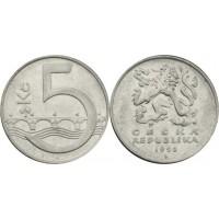 5 крон 1993 год. Чехия