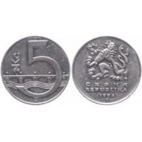 5 крон 1994 год. Чехия