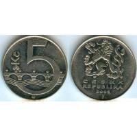 5 крон 2002 год. Чехия