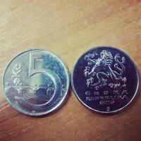 5 крон 2015 год. Чехия