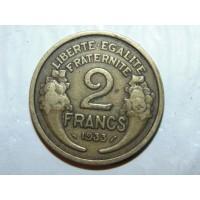 2 франка 1933 год. Франция.