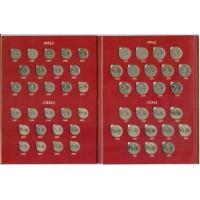 Набор разменных монет России регулярного чекана 1997-2014 г.г., в альбоме