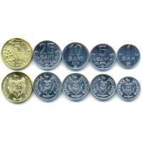 Набор из 5 монет 2004-2008 год. Республика Молдова.