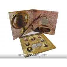 Монета 5 рублей 2015 г., посвящённая 170-летию Русского географического общества, в буклете
