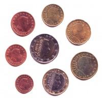 Люксембург. Набор евро монет. 2010 год.