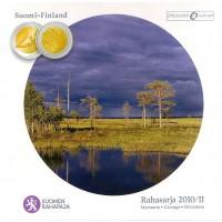 Официальный годовой набор евро монет Финляндия 2010 год. (8 монет+жетон)