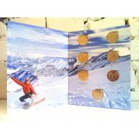 Набор монет 25 рублей 2011-2014 гг., посвященных Олимпиаде в Сочи, в альбоме (7 монет)