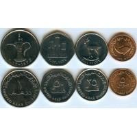 Набор из 4-х монет ОАЭ (AED) Объединённые Арабские Эмираты