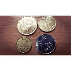 Набор монет Сейшельские острова 2004-2012 год. (4 штуки)