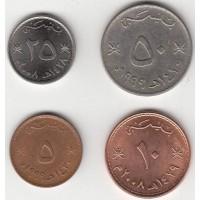 Набор монет Оман 1985-2008 года. (4 штуки)