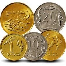 Набор монет Польши 2010-2014 год. (5 монет)