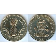 Багамские острова. 5 центов 1984 год. Ананас