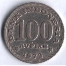 Индонезия 100 рупий 1973 год.