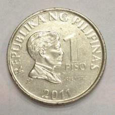 1 песо 2011 год. Филиппины