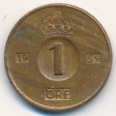 1 эре Швеция 1959 год