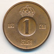 1 эре Швеция 1961 год