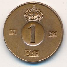 1 эре Швеция 1962 год