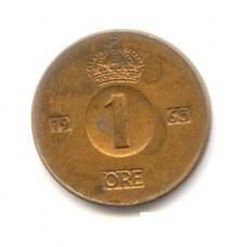 1 эре Швеция 1963 год