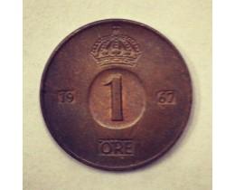 1 эре Швеция 1967 год