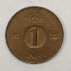 1 эре Швеция 1969 год