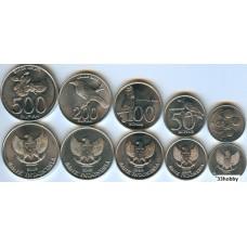 Набор монет Индонезия 1999-2008 гг. (5 монет)