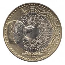 1000 песо 2014 год. Колумбия. Черепаха.