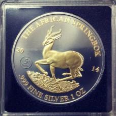 Габон 1000 франков 2014 год. Спрингбок (Антилопа) Golden Enigma