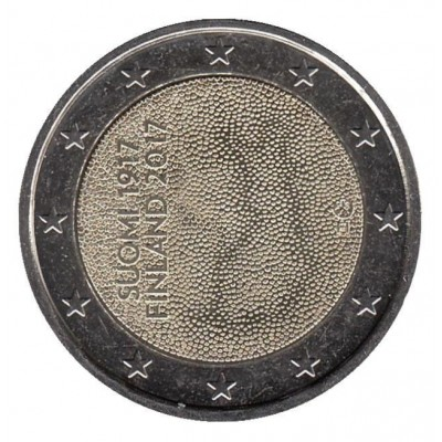 2 евро 2017 год. Финляндия. 100 лет независимости Финляндии