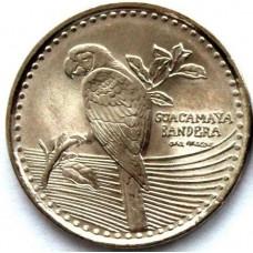 200 песо 2013 год. Колумбия. Попугай.