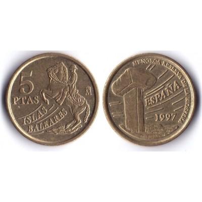 5 песет 1997 год. Испания. Балеарские острова