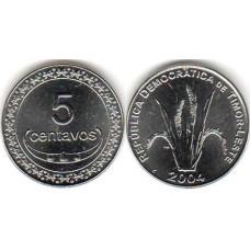 5 сентаво 2004 год. Восточный Тимор