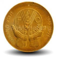 5 толаров 1995 год. Словения. 50 лет ФАО