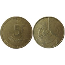 5 франков 1986 г. Бельгия