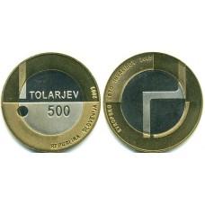 500 толаров 2003 год. Словения. Европейский год инвалидов.