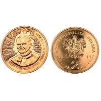 2 злотых 2011 год. Польша. Беатификация Иоанна Павла II.