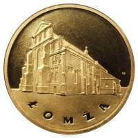 2 злотых 2007 год. Польша. Ломжа.