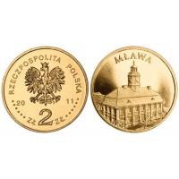 2 злотых 2011 год. Польша.  Млава