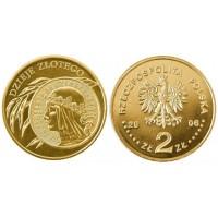 2 злотых 2006 год Польша. 10 злотых 1932 года (Ядвига)