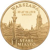 2 злотых 2010 год. Польша. Варшава - Старый город