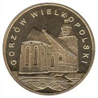 2 злотых 2007 год. Польша. Гожув-Великопольский.
