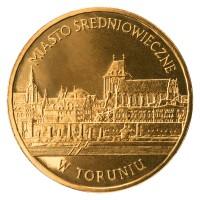 2 злотых 2007 год Польша. Средневековый город Торунь.