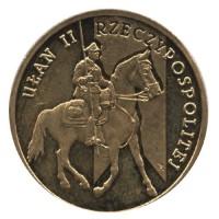 2 злотых 2011 год Польша. Улан II Польской республики.